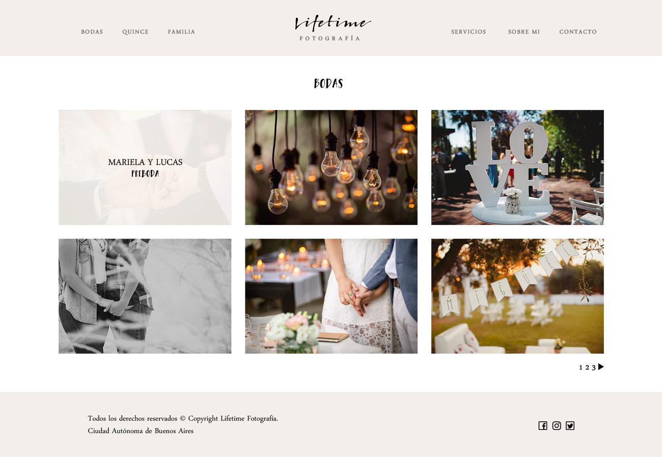Galerìa de post, web de fotografía diseñado y desarrollado por lavueltaweb