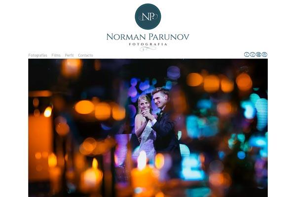 Portada web de fotografia de Norman Parunov Fotoperiodismo,. La Vuelta Web
