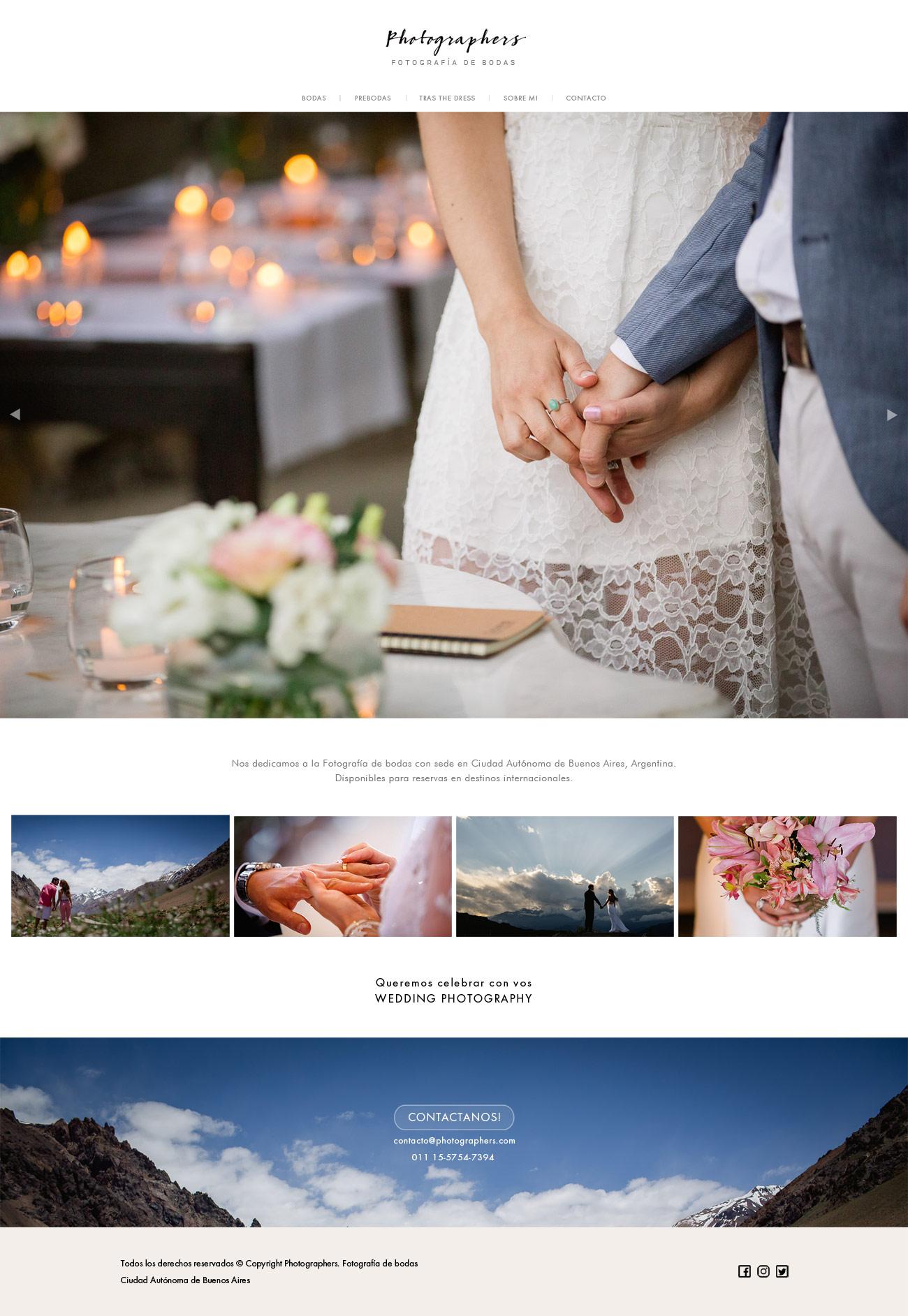 Diseño web página de fotografía realizado por lavueltaweb