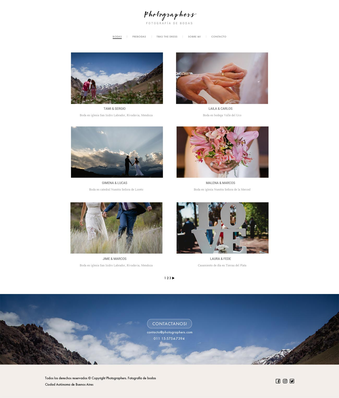 Galería de post de fotos de boda en la web de fotografía diseñada y desarrollada por La Vuelta Web