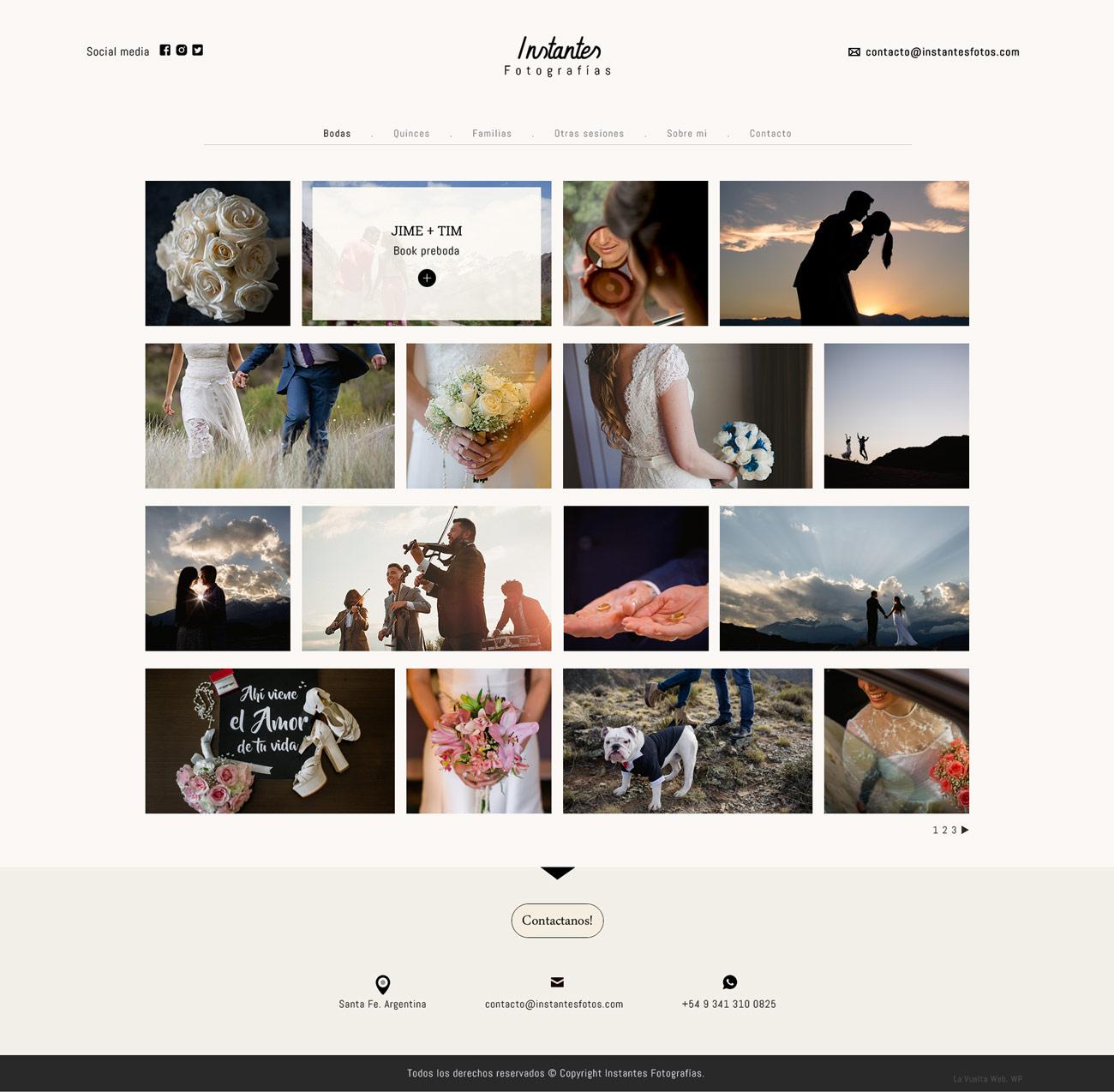 Galería de post website fotografía by lavueltaweb