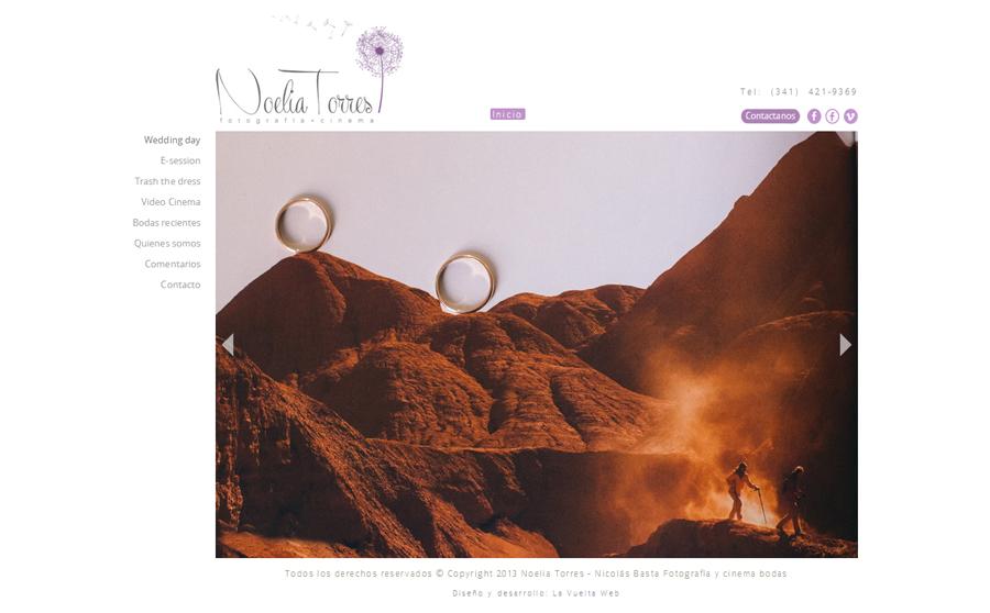 Sección de fotos del día de la boda de la web Noelia Torres Fotografía, Cinema. Diseño y desarrollo La Vuelta Web