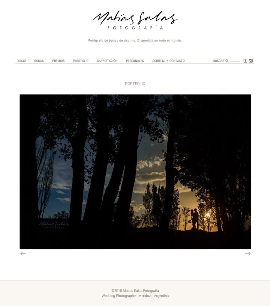 Sesión portfolio de la web de Matias Salas fotógrafo. Diseño y desarrollo La Vuelta Web