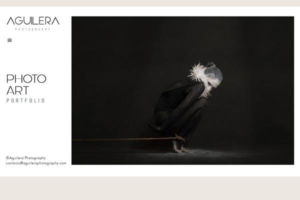 Website portada Aguilera Photography portafolio web La Vuelta Web