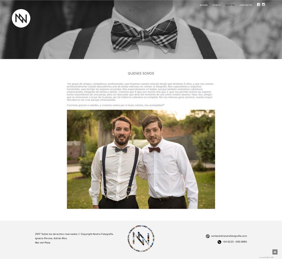 Sección web Nostra Fotografía. Pagina diseñada y desarrollada por La Vuelta Web