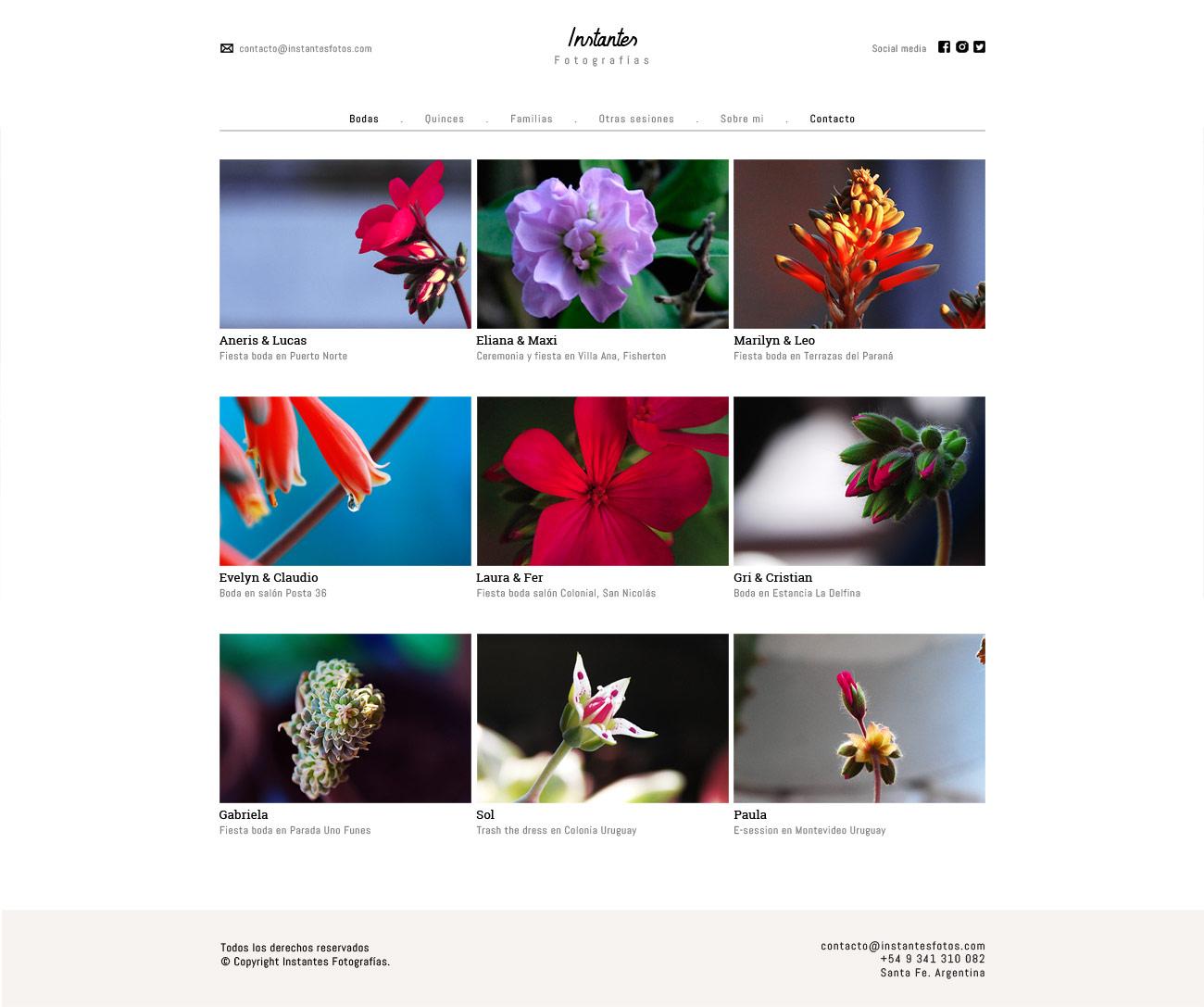 Galería de fotografias, web para fotografos LAVUELTAWEB