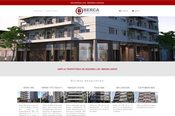 Home página web Berca Arquitectos desarrollada por La Vuelta Web