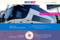 Home de la web de Adonai Tour, empresa de transporte de pasajeros, realizada por La Vuelta Web