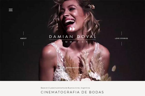 Home web Damián Doval filmmaker diseñada y desarrollada por La Vuelta Web