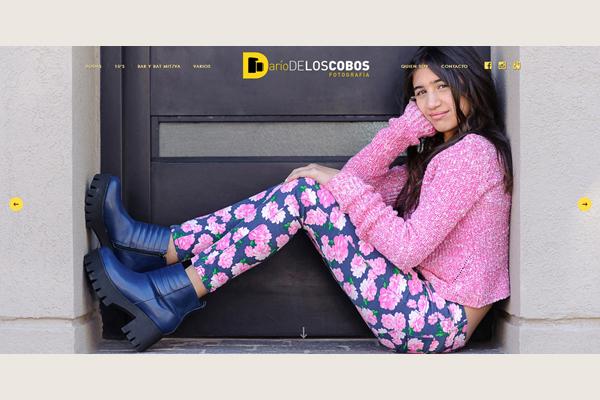 Portada del sitio web ideado por La Vuelta Web para Dario De Los Cobos, fotógrafo de Buenos Aires
