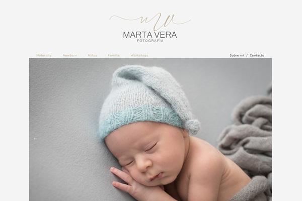 Portada web de la fotógrafa Marta Vera desarrollado por La Vuelta Web
