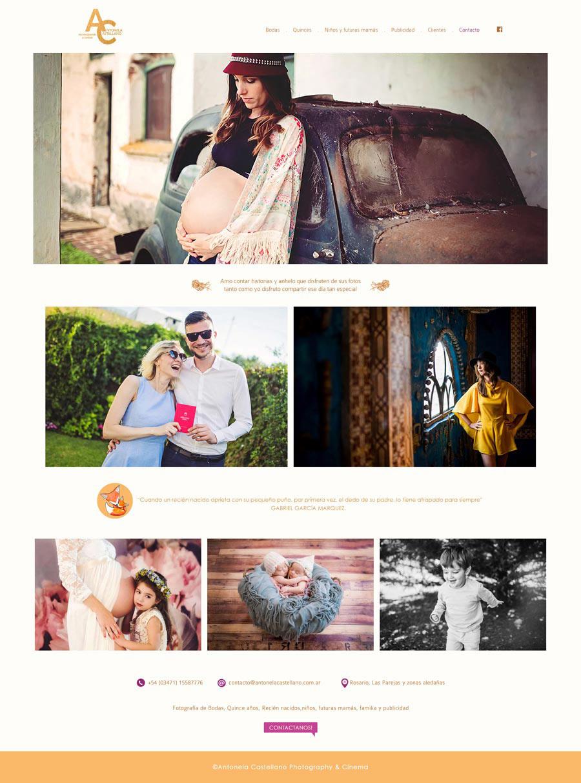 Website Photography & Cinema Antonela Castellano by La Vuelta Web.