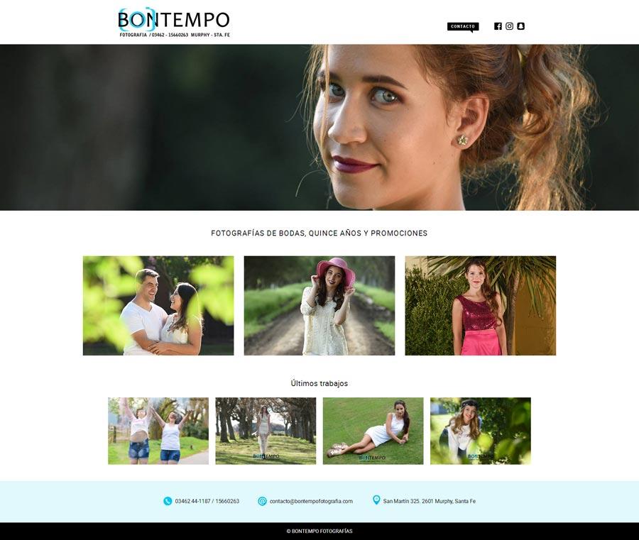 Pagina web para la productora Natalia Baigorria Event Planner por La Vuelta Web
