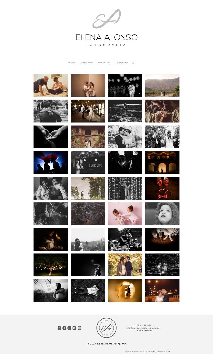 Página web de fotografía de Elena Alonso desarrollado por La Vuelta Web
