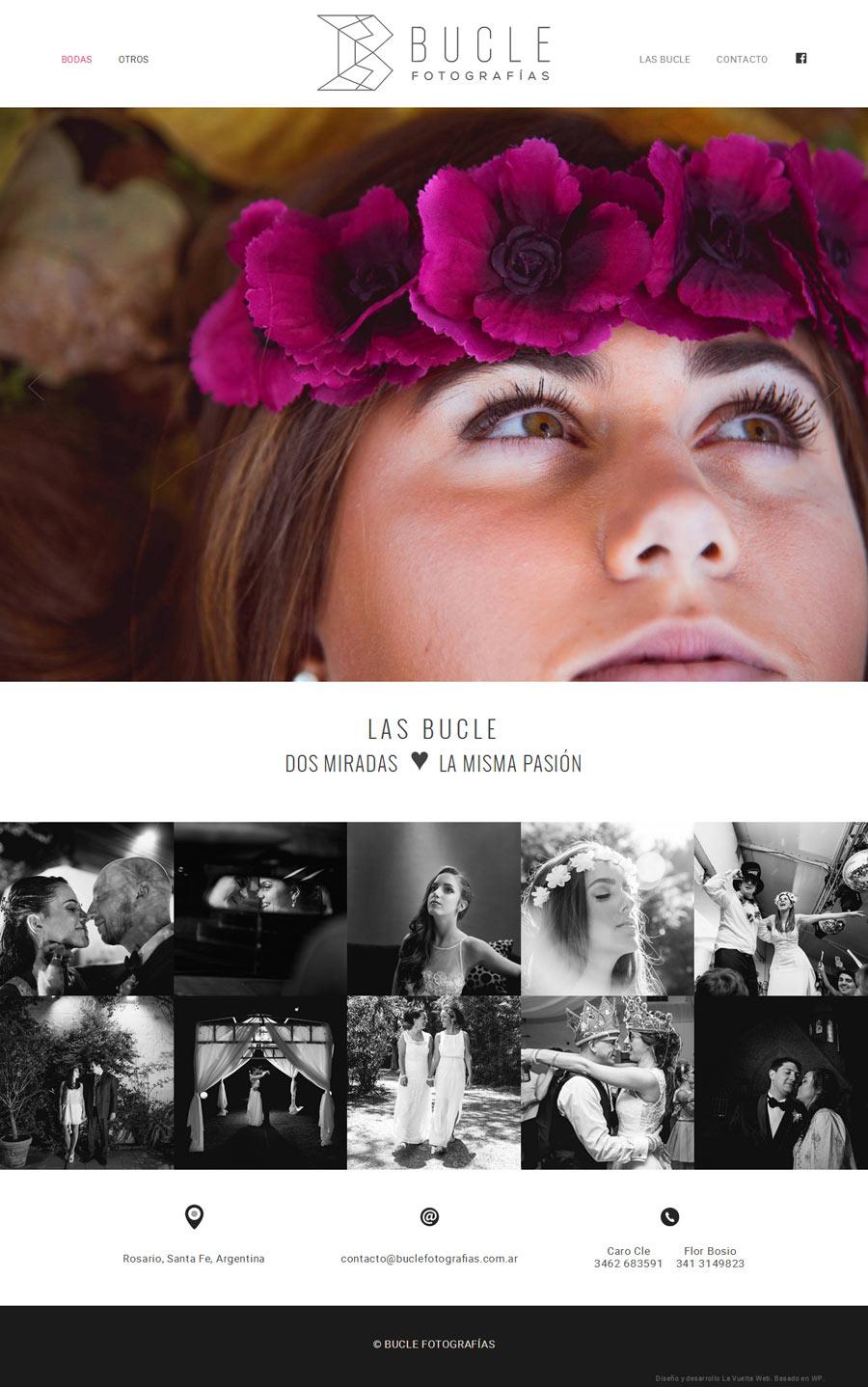 Pagina web fotografia Bucle, Rosario, Santa Fe por La Vuelta Web
