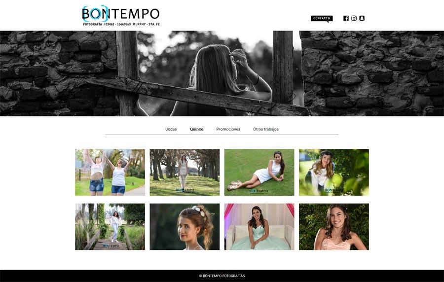 Web de fotografía Quince años Santa Fe