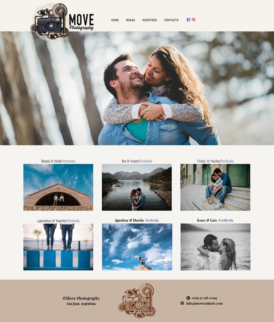 web diseñada y desarrollada para los fotógrafos Pablo Moreno y Santiago Vega Sanchez de San Juan