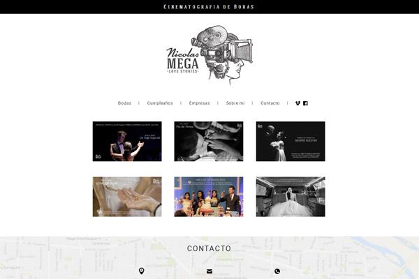 Website de cinematografía para Nicolás Mega por La Vuelta Web