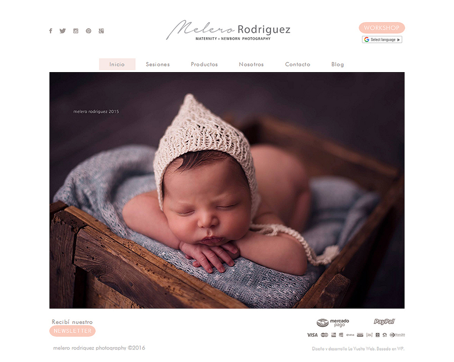 web responsive design melero rodriguez photography by La Vuelta Web