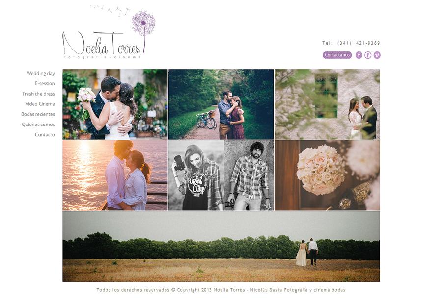 Página web de la fotógrafa Noelia Torres y el videasta Nicolas Basta. Diseño y desarrollo La Vuelta Web