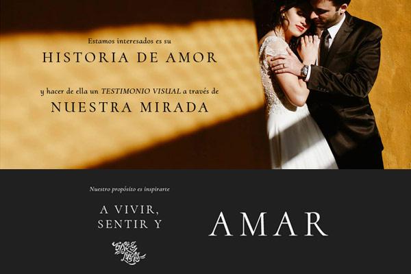 Portada sitio web de Gise & Lucas Wedding photographers de Córdoba. La Vuelta Web, bajo la plataforma de Flothemes