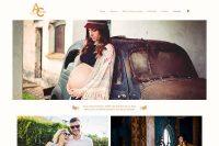 Portada de la web de Antonela Castellano fotógrafa de eventos sociales, bebes y familia realizada por La Vuelta Web