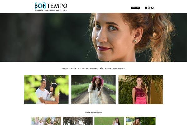 Portada pagina web para la productora Natalia Baigorria Event Planner por La Vuelta Web