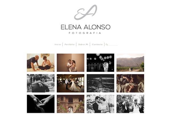 Portada de la página web de fotografía de Elena Alonso desarrollado por La Vuelta Web