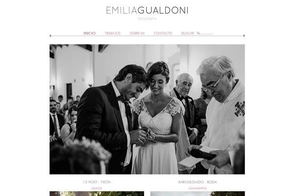 Portada web de fotografia de Emilia Gualdoni. La Vuelta Web