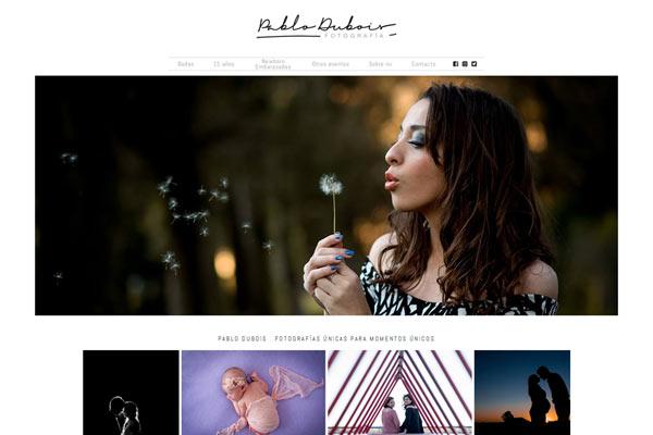 Portada web desarrollado por La Vuelta Web para el fotógrafo Pablo Dubois de Santa Fe
