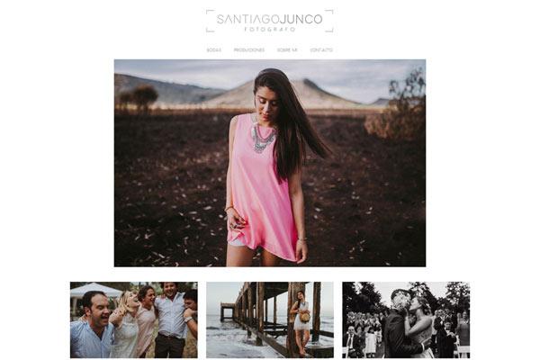 Portada portfolio web del fotógrafo Santiago Junco diseñado por La Vuelta Web