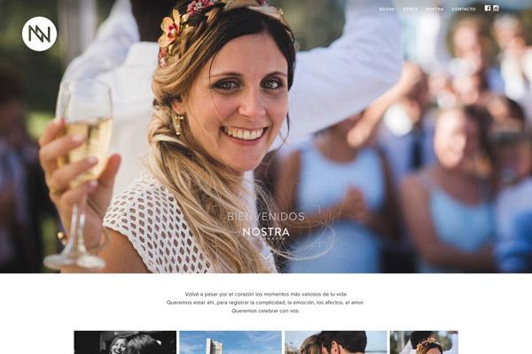 Portada web Nostra Fotografía diseñada y desarrollada por La Vuelta Web