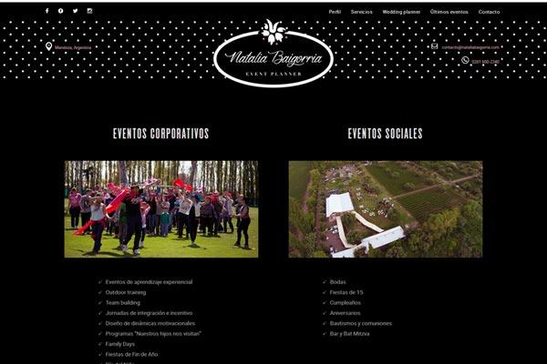 Website ideado y realizado por La vuelta Web para Natalia Baigorria Event Planner de Mendoza
