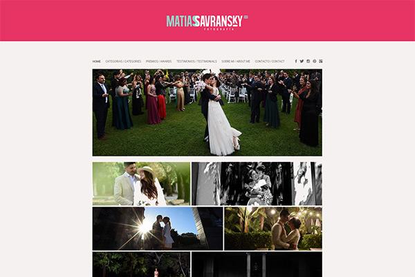 Portada website de Matías Savransky Fotografía. Diseño y desarrollo de la web por La Vuelta Web