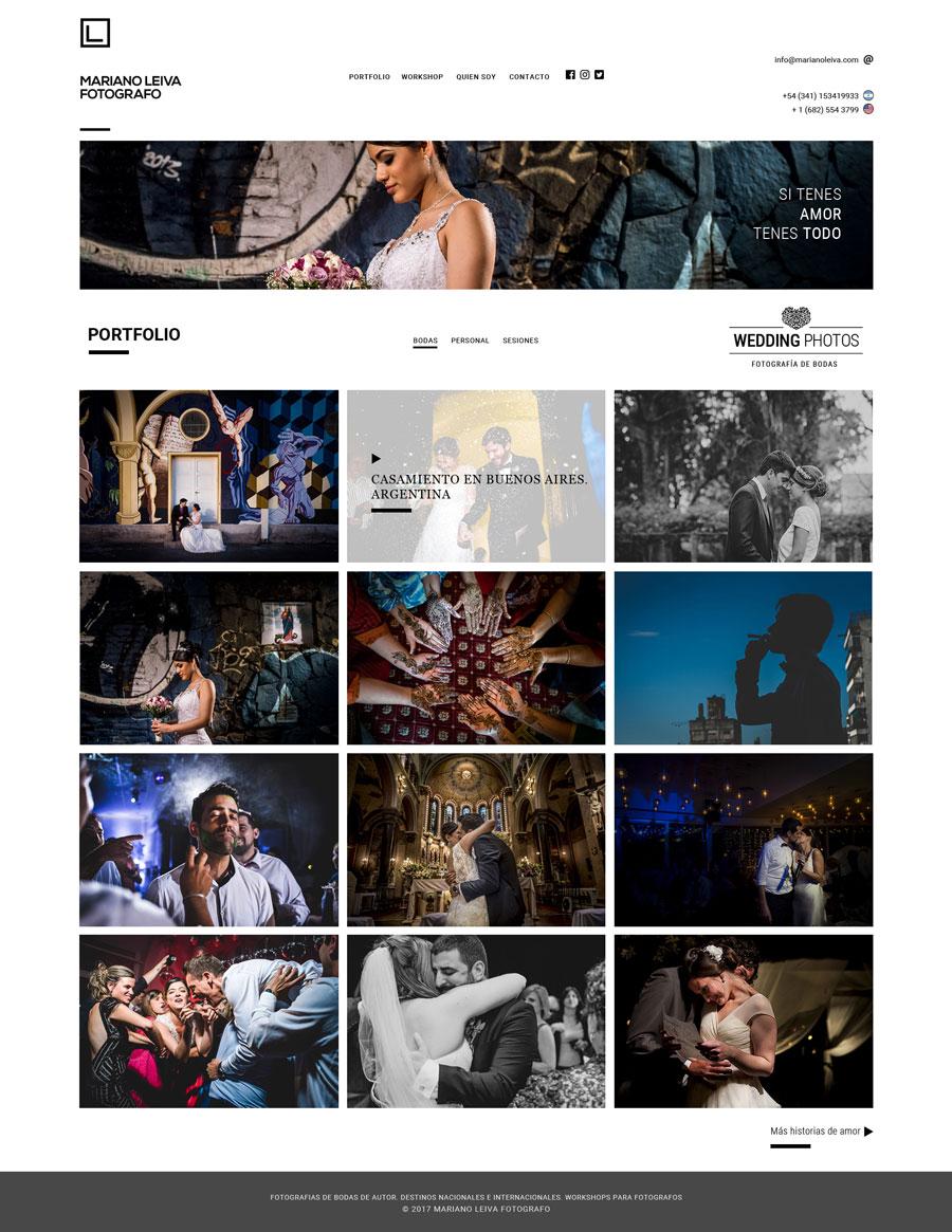 Portfolio web Mariano Leiva diseñado y desarrollado por La Vuelta Web, WordPress