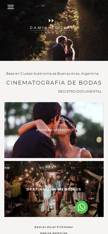 Responsive web design Damián Doval Filmmakers La Vuelta Web