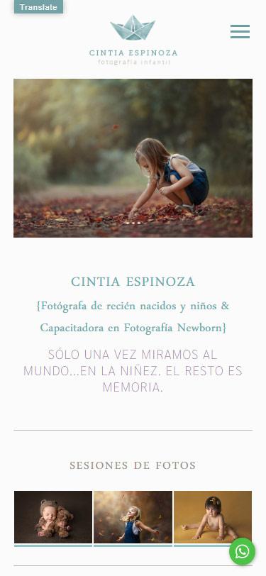 responisve web design realizado por La Vuelta Web para Cintia Espinoza