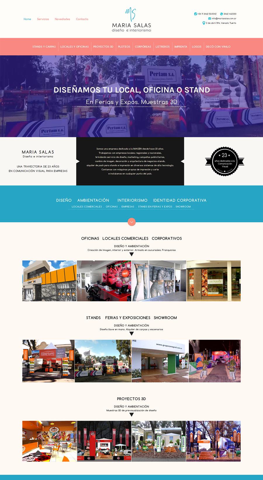 Sitio web para la Licenciada María Salas y su empresa de Comunicación Visual