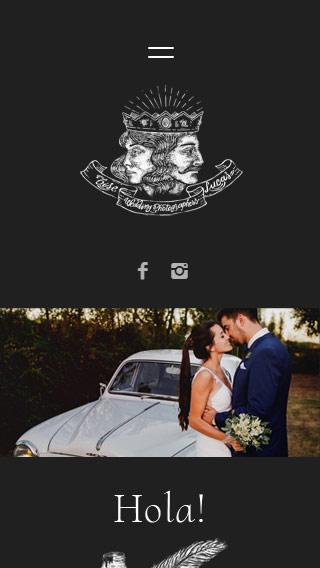 Responsive website Gise & Lucas Wedding photographers de Córdoba. La Vuelta Web Flothemes