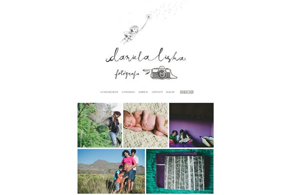 Sitio web de la fotógrafa documental Daniela Liska desarrollado por La Vuelta Web