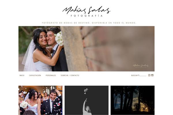 sitio web de Matias Salas, fotografo de bodas de mendoza. Diseño y desarrollo La Vuelta Web
