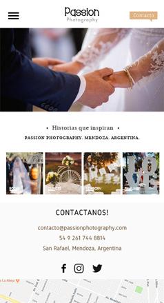 Responsive web design photography La Vuelta Web
