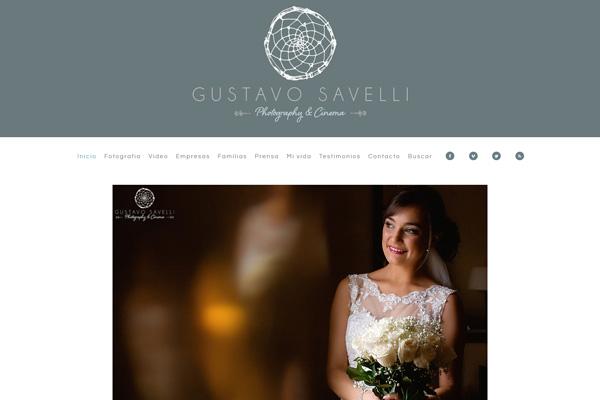 Página web de Gustavo Savelli Photography & Cinema diseñada y desarrollada por La Vuelta Web