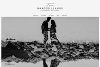 Portada web del fotógrafo Marcos Llanos. diseño y desarrollo La Vuelta Web