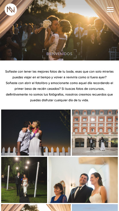 Web para fotógrafos ideada por La Vuelta Web