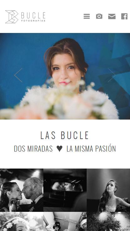 Pagina web de fotografía con diseño responsive, adaptable a móviles por La Vuelta Web