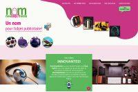 web realizada para NOM, New Objet Media, agencia de objetos publicitarios de Francia