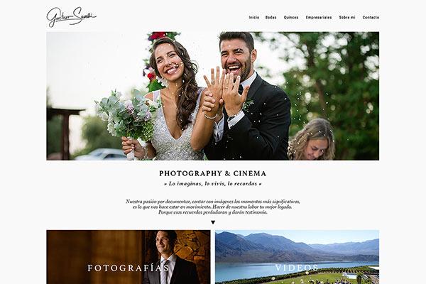 Portada web Gustavo Savelli Photography Cinema, Mendoza, realizado por La Vuelta Web