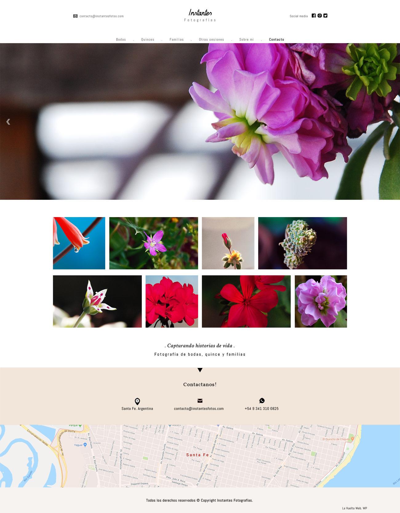 Webs de fotografía diseñada y desarrollada por LAVUELTAWEB basado en WORDPRESS