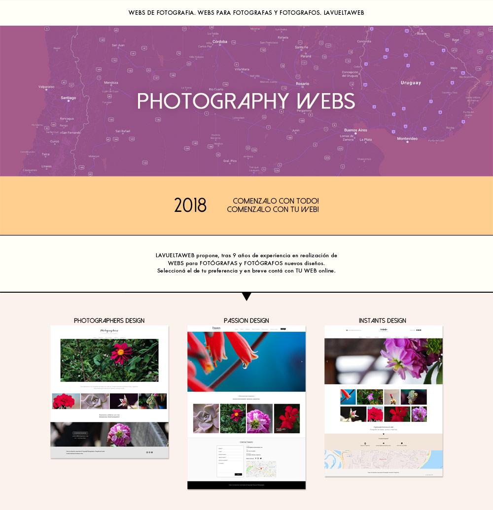 Diseños webs de fotografia, páginas web para fotógrafos La Vuelta Web